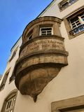 We shall never change. Writing on wall of old Luxembourg building Royalty Free Stock Images