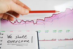 Stock market graphs analysis Royalty Free Stock Image