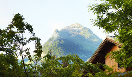Shallet and mountain view landscape in the Alps Royalty Free Stock Images