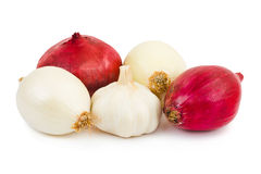 Shallot and garlic Stock Photo