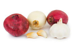 Shallot and garlic Stock Image