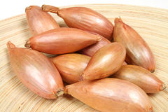 Shallot onions. Shallot or scallion or griselle - vegetables similar to onion stock image