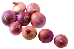 Shallot Onions. Group of shallot onions isolated on white background Stock Photography