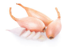 Shallot onions and slices Royalty Free Stock Photography