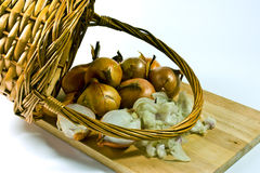 basket of shallots  Stock Photography
