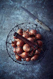 Shallots in a Basket Stock Photography