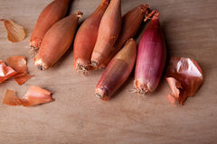 Shallots ready for use as ingredients in cooking Stock Photography