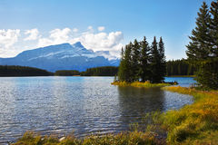 The shallow of Canadian lake Stock Image