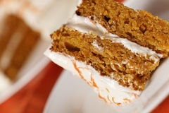Shallow carrot cake Royalty Free Stock Photos