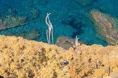 Shallow clear sea of Crete Stock Photo