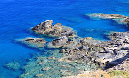 Shallow clear sea of Crete Royalty Free Stock Photos