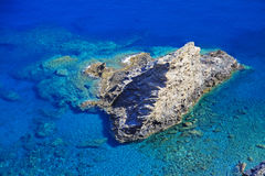 Shallow clear sea of Crete Stock Photo