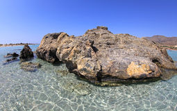 Shallow clear sea at Elafonisi, Crete Stock Photography