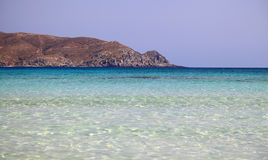 Shallow clear sea at Elafonisi, Crete Royalty Free Stock Photography