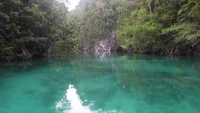 Shallow, Colorful Lagoon in Raja Ampat stock video