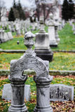 Shallow depth of field cemetery headstone Stock Photography