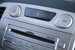 Car Stereo & Seatbelt Alert Royalty Free Stock Photography