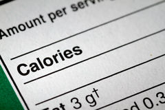 Shallow depth of Field image of Nutrition Facts Royalty Free Stock Image