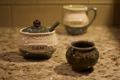 Shallow depth of field Irish sugar container Royalty Free Stock Photo