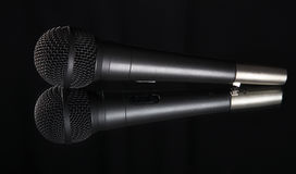 Shallow depth of field view of a microphone Stock Image