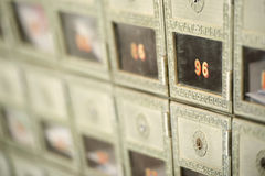 Shallow depth of view of a po box Stock Photos