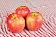 Shallow DOF image of red apples Stock Photos