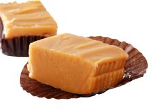 Shallow DOF vanilla fudge Stock Photos