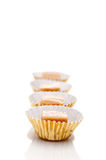 Shallow focus close up of caramel treats Royalty Free Stock Image