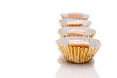 Shallow focus close up of caramel treats Royalty Free Stock Photos
