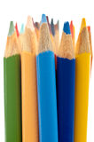 Shallow focus close up of colored pencils Royalty Free Stock Photos