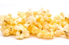 Shallow focus closeup of popcorn Stock Images