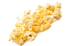 Shallow focus closeup of popcorn Royalty Free Stock Image