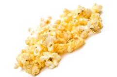 Shallow focus closeup of popcorn. A tilted shallow focus closeup of popcorn royalty free stock image