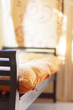 Shallow focus on daybed Stock Images