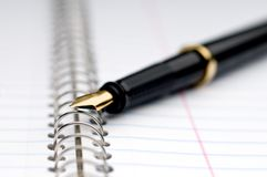 Shallow focus macro of a fountain pen royalty free stock image