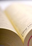 Shallow focus macro of a phone book Royalty Free Stock Images