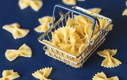 Shallow Focus of Pasta stock photo