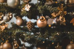 Shallow Focus Photo of Baubles on Christmas Tree