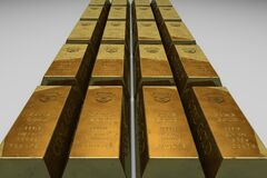 Shallow Focus Photo of Gold Bars Stock Photo