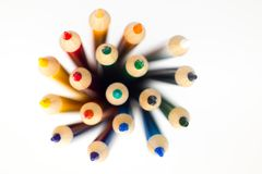 Shallow Focus Photography of Color Pencil Lot Royalty Free Stock Image