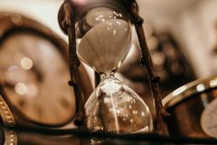 Shallow Focus Photography of Hourglass royalty free stock images