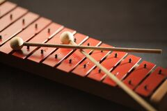 Shallow Focus Photography of Red Xylophone Royalty Free Stock Photo