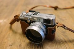 Shallow Focus Photography of Silver Camera Royalty Free Stock Image