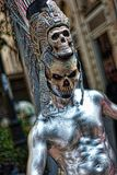 Shallow Focus Photography of Silver Skeleton Statue Royalty Free Stock Images
