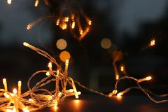 Shallow Focus Photography of String Lights royalty free stock image