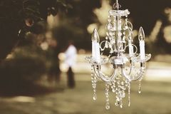 Shallow Focus Photography of White Uplight Chandelier Stock Images