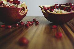 Shallow Focus of Sliced Fruits With Seeds Stock Images