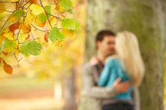 Shallow Focus View Of Romantic Teenage Couple royalty free stock image