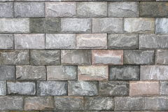 Shallow green stone brick wall Stock Images