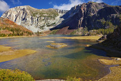 The shallow lake on pass Tioga Royalty Free Stock Images